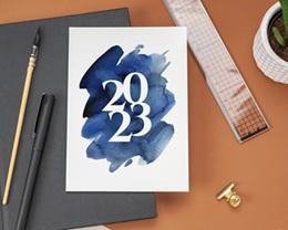 Carte de Voeux Entreprise 20 sur 20 Simple gratuit