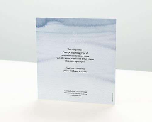 Carte de Voeux Entreprise Citation Aquarelle pas cher