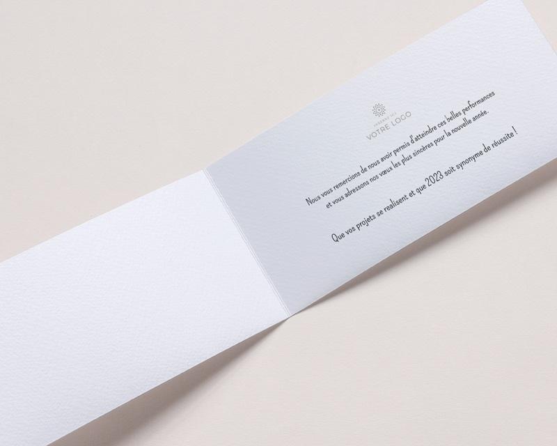 Carte de Voeux Entreprise Loading Bleu, Rectangle 2 volets, 10 x 21 pas cher