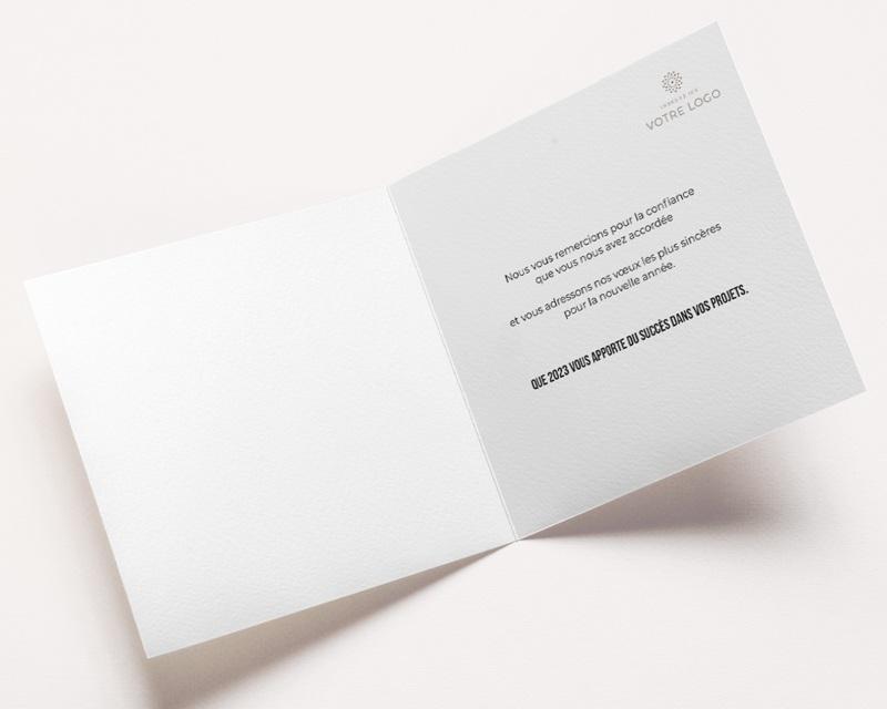 Carte de Voeux Entreprise Sillons dorés, Carré double - 14 x 14 pas cher