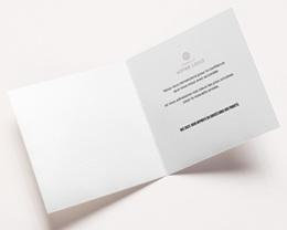 Carte de Voeux Entreprise Happy New year Doré, 2 volets carrés - 14 x 14 pas cher