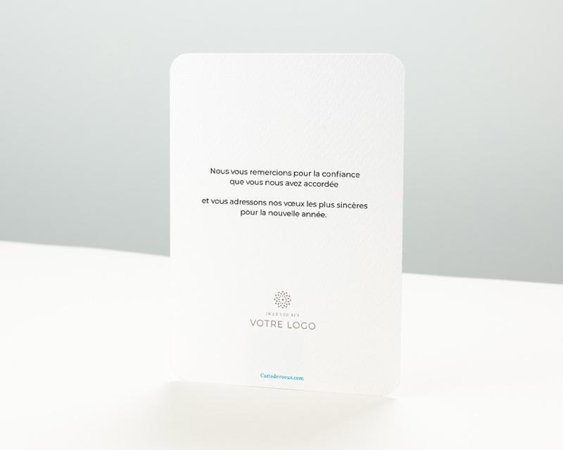 Carte de Voeux Entreprise Tuyau, Bords arrondis, 12 cm x 16,7 cm pas cher