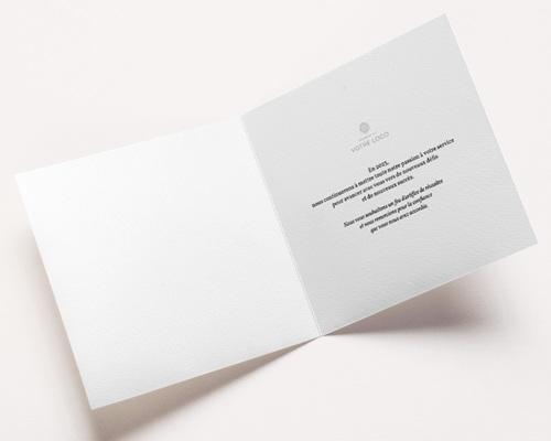 Carte de Voeux Entreprise Ciel étoilé, Dorure, carré double 14 x 14 pas cher