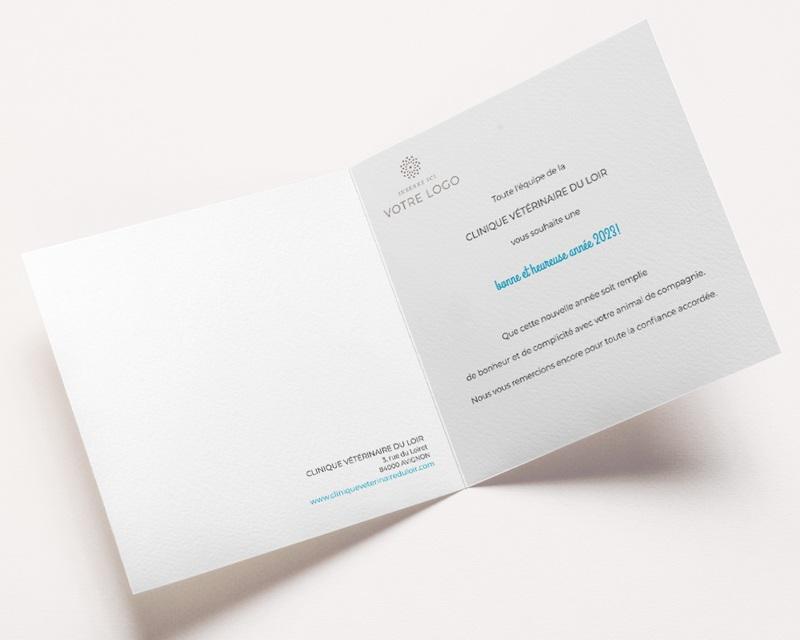 Carte de Voeux Entreprise Animaux, pele-mêle, vernis pas cher