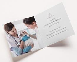 Carte de Voeux Entreprise Logo Chien Chat, Noir & Blanc, Relief pas cher