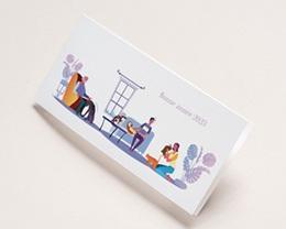 Carte de Voeux Entreprise Véto, Pet sitter, vernis 3D