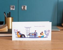 Carte de Voeux Entreprise Véto, Pet sitter, vernis 3D gratuit