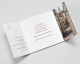 Carte de Voeux Entreprise Promoteur, Constructeur, Triptyque, Vernis pas cher