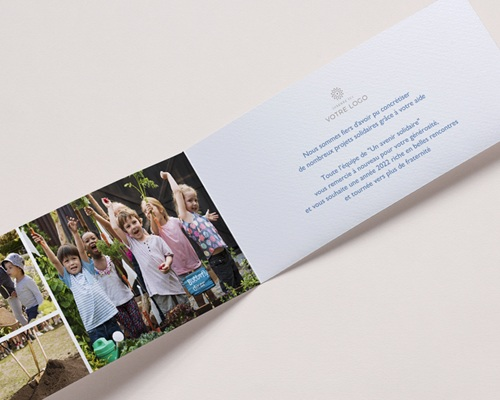 Carte de Voeux Entreprise Coeurs Arc-en-Ciel, vernis 3D pas cher