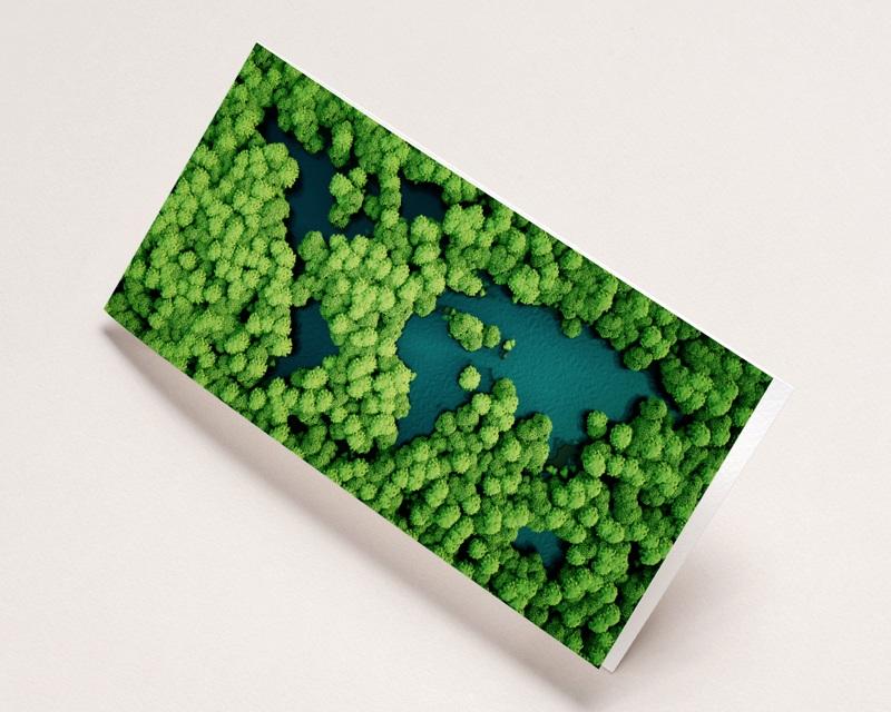 Carte de Voeux Entreprise Oeuvrons pour un monde plus vert