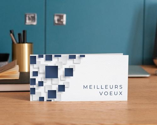 Carte de Voeux Entreprise Mur relief, Carrés colorisables, Vernis 3D gratuit