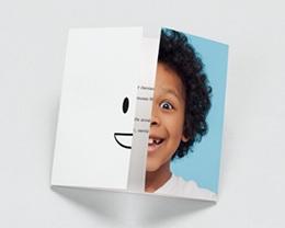 Carte de Voeux Entreprise Orthodontie, triptyque du sourire