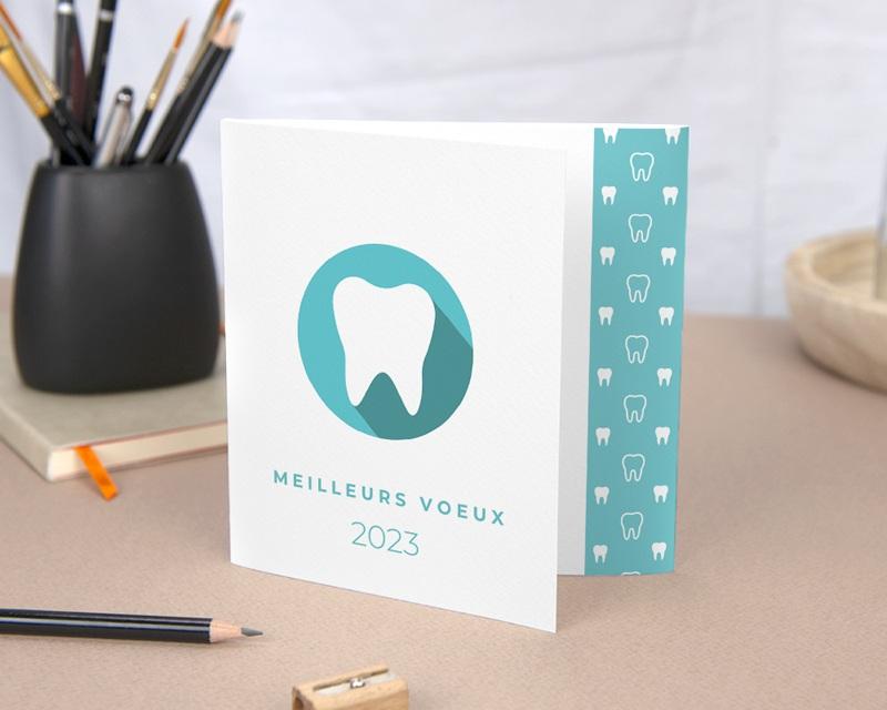 Carte de Voeux Entreprise Soins dentaires, Calendrier, 3 volets gratuit