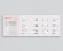 Carte de Voeux Entreprise Rdv dentaire, 3 volets, pli-décalé pas cher