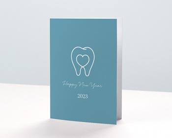 Carte de Voeux Professionnelle Chirurgien Dentiste, Stomatologue