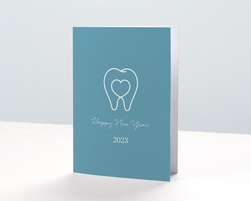 Carte de Voeux Entreprise Chirurgien Dentiste, Stomatologue