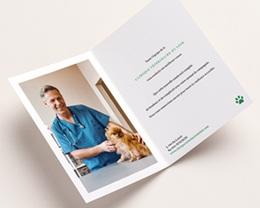 Carte de Voeux Entreprise Sapin original, pattes de chien, Vernis pas cher