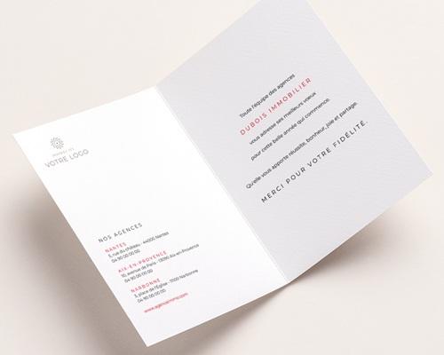Carte de Voeux Entreprise Maisons Bois, Citation, fond Relief pas cher