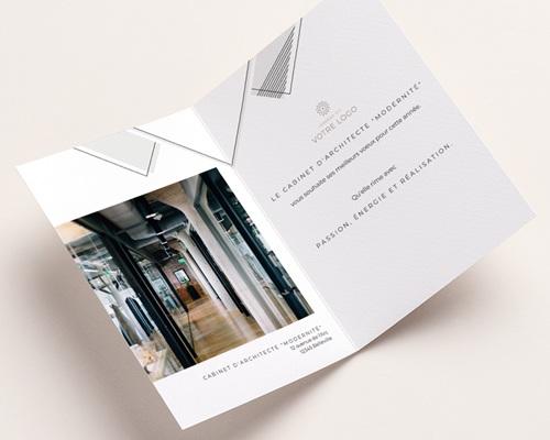 Carte de Voeux Entreprise Losanges Graphiques, Liseré doré, Photo pas cher