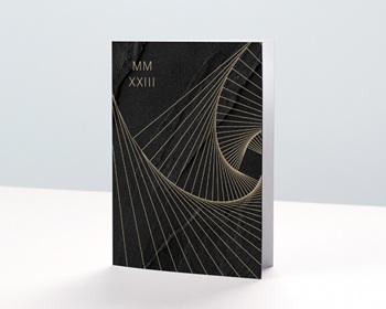 Carte de Voeux Entreprise Corporate, Hélicoïde, Marbre noir personnalisable