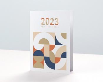 Carte de Voeux Pro Corporate, Rétro Bauhaus, Dorure