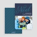 Carte de vœux particulier - Noël bleu