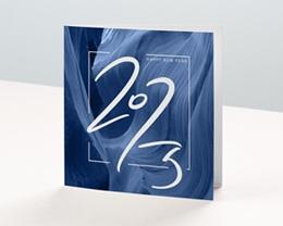 Carte de Voeux Entreprise Canyon Bleu, Graphique, Relief, Happy New Year