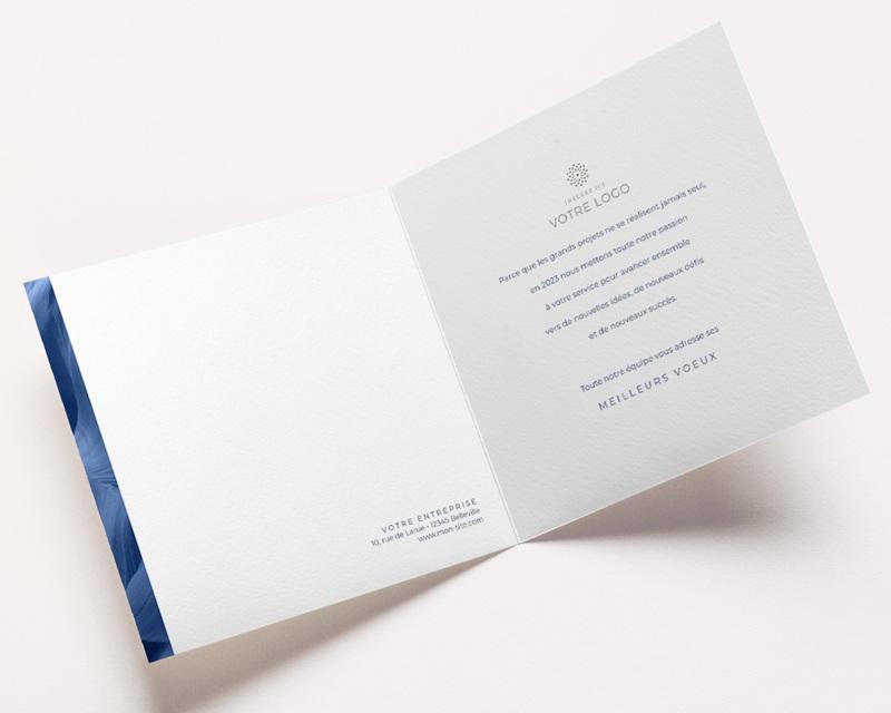 Carte de Voeux Entreprise Canyon Bleu, Graphique, Relief, Happy New Year pas cher