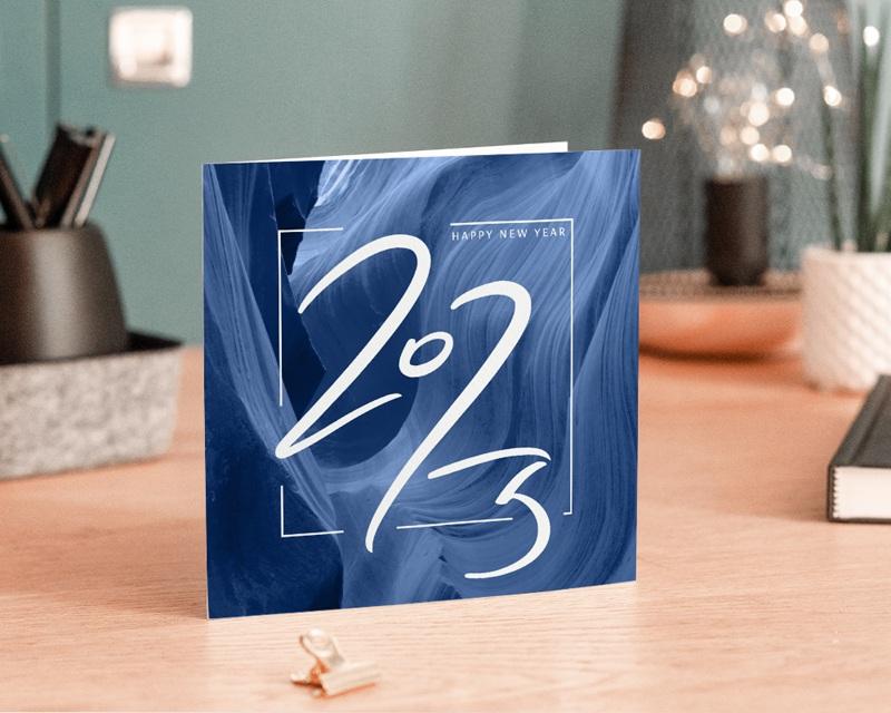 Carte de Voeux Entreprise Canyon Bleu, Graphique, Relief, Happy New Year gratuit