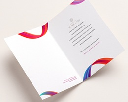 Carte de Voeux Entreprise Ruban multicolore, vernis 3D pas cher