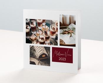 Carte de Voeux Entreprise Noel au chaud personnalisable