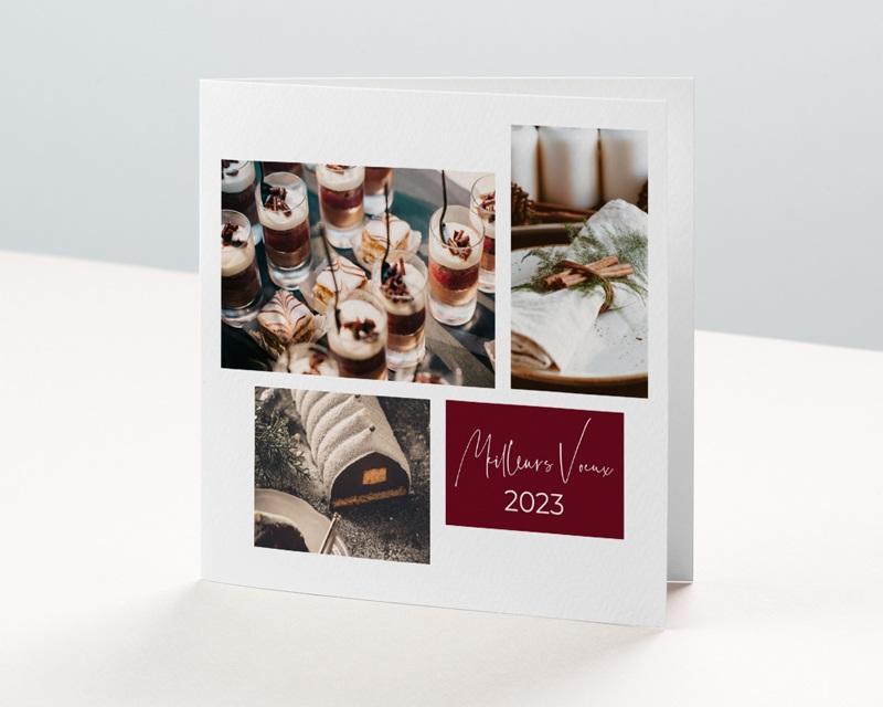 Carte de Voeux Entreprise Noel au chaud