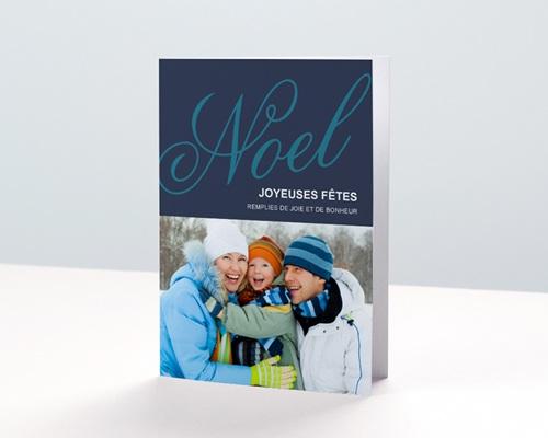 Carte de vœux particulier Noël bleu 2