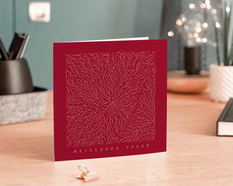 Carte de Voeux Entreprise Nature dorée, Arbre de vie, Racines gratuit