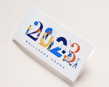 Carte de Voeux Professionnelle 2021 Corporate, Bâtiment, Isométrique