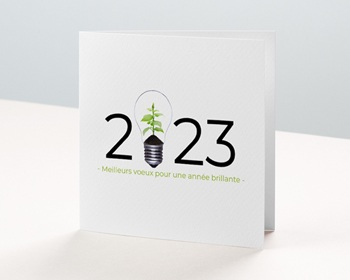Carte de Voeux Entreprise Idée verte, Protection de la Nature personnalisable