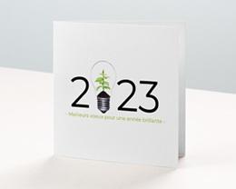 Carte de voeux avec logo d'entreprise Idée verte, Protection de la Nature