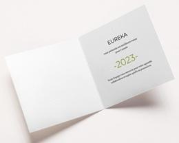 Carte de voeux avec logo d'entreprise Idée verte, Protection de la Nature pas cher