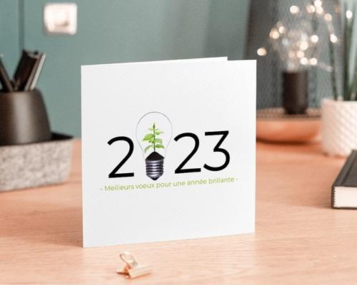 Carte de voeux avec logo d'entreprise Idée verte, Protection de la Nature gratuit