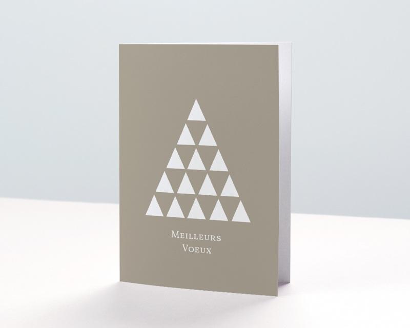 Carte de Voeux Entreprise Sapin, Triangles colorisables