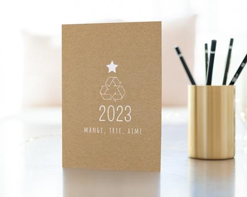 Carte de Voeux Entreprise Recyclage, Traitement, Ecologie gratuit