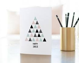 Carte de Voeux Entreprise Sapin Moderne gratuit