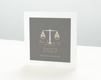 Carte de Voeux Professionnelle Cabinet d'avocats, Conseil juridique