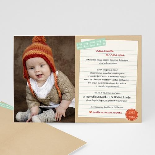 Carte de vœux particulier - Lettre au Papa Noël
