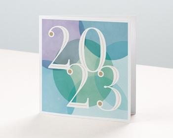Carte de Voeux Pro Créatif, Art déco, Pastel & Dorure