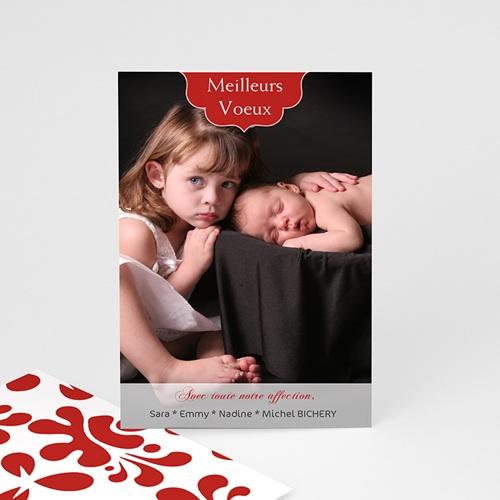 Carte de vœux particulier - Design Rouge