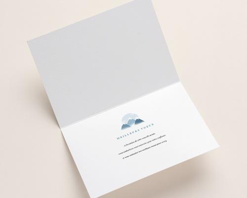 Carte de voeux avec logo d'entreprise Au sommet, Montagnes, Dorure pas cher