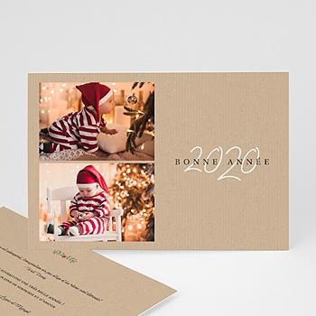 Carte de Voeux Entreprise Deux Souvenirs personnalisable