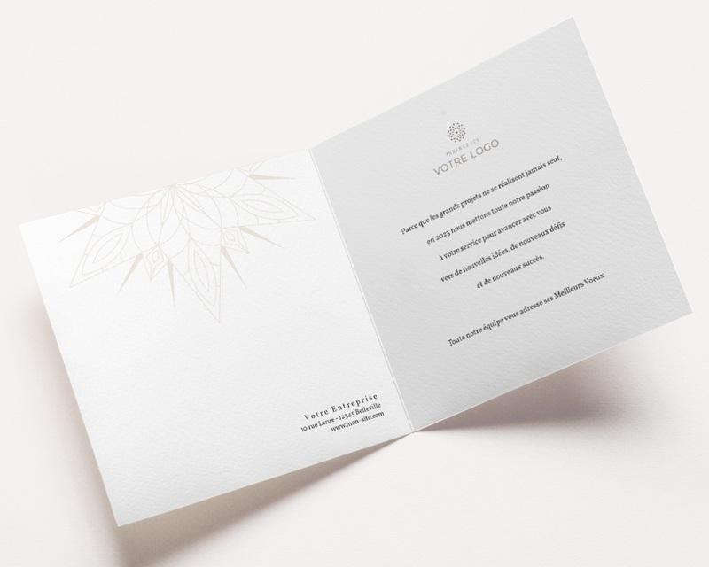 Carte de Voeux Entreprise Etoile de Noël dorée, carré double pas cher
