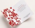 Carte de vœux particulier - Design Rouge 2